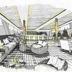 Grand Four Wings Convention Hotel Interior Design Renderings, Drawing Interior, Interior Sketch, Architecture Design, Restaurant Layout, Restaurant Interior Design, Hotel Floor Plan, Hotel Lobby Design, Hotel Interiors