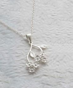 Love this Sterling Silver Forget Me Not Pendant Necklace - Women on #zulily! #zulilyfinds