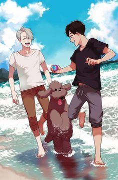 My one and ONLY GAY ship. I don't watch Yaoi okay? But YOI was just so good. Damn. ❄