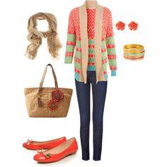 Orange crush casual #womens #outfit #orange #clothing