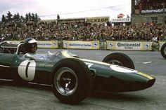 1965 German GP, Nurburgring : Jim Clark, Lotus-Climax 33 #1, Team Lotus, Winner. (ph: © R. Riger)