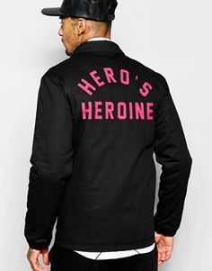 Hero's Heroine Coach Jacket With Back Print