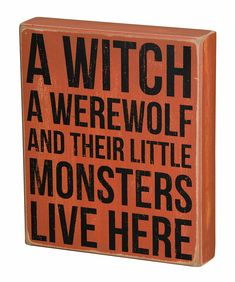 Halloween Decor Box Sign Witch Werewolf & Little Monsters Primitives by Kathy #PrimitivesByKathy #RusticPrimitive Halloween Buffet, Halloween Home Decor, Halloween Signs, Halloween House, Spirit Halloween, Holidays Halloween, Halloween Crafts, Happy Halloween, Halloween Decorations