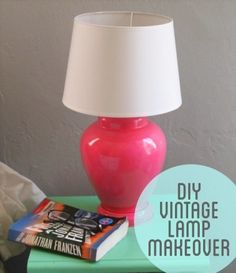 DIY Vintage Lamp Makeover. These projects make me want to be all crafty.