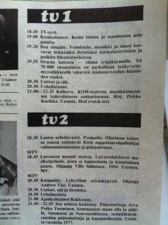 80 luvun alku ja televisio-ohjelmat