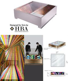 CAMPBELL coffee table designed for SICIS // HBA furniture collaboration. Copyright HBA/Hirsch Bedner Associates.