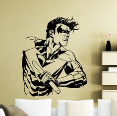 Nightwing Wall Sticker Superhero DC Marvel by AwesomezzDesigns