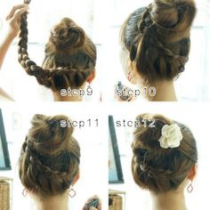 I need to learn how to braid my hair from the back because I want to do this!!!