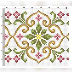 Great Images Embroidery Patterns borders Ideas So you have acquired many the simple with stitches, taken online curtains classes along with side embelleshme Cross Stitch Borders, Cross Stitch Flowers, Cross Stitch Charts, Counted Cross Stitch Patterns, Cross Stitch Designs, Cross Stitching, Cross Stitch Embroidery, Embroidery Patterns, Border Embroidery