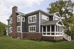 Exterior Photos Gray House, Red Brick Design, Pictures, Remodel, Decor and Ideas - page 5