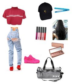 """""""Pack a overnight bag👜🌙"""" by damnitbae ❤ liked on Polyvore featuring H2Pro, Urban Decay and NIKE"""