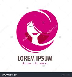 young woman vector logo design template. cosmetic, makeup or beauty salon, spa icon