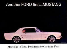 1964½ Ford Mustang Ad-03... I have always wanted one of these!  ;)