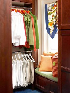 Love the built-ins in this walk-in closet!