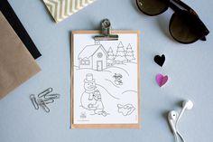 Réalisation d'un dessin à colorier en mode hiver pour la société ma Tartine à 4 Heures Design, The Hours, Boutique Online Shopping, Children