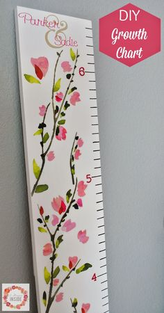 A Glimpse Inside: DIY Growth Chart #CreativeBuzz