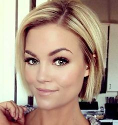 25 Blonde Bob Haircuts – Latest Bob HairStyles Yes. Hair Color And Cut, Cut My Hair, Love Hair, Great Hair, Gorgeous Hair, New Hair, 2015 Hairstyles, Pretty Hairstyles, Blonde Hairstyles