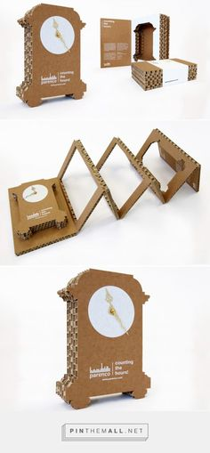 CAMPAIGN (PRODUCT) DESIGN: PAPER HOURS! by Reynhard Faber Nijmegen, Netherlands on Behance curated by Packaging Diva PD. This is awesome marketing campaign and incredibly clever and made from honeycomb paperboard packaging.
