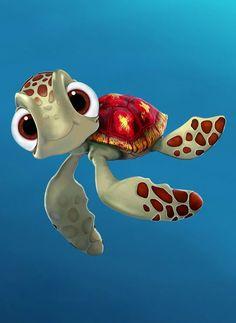 Disney Nemo and Dory Wallpaper XL GreatKidsBedrooms the Disney Pixar, Disney Art, Disney Movies, Walt Disney, Finding Nemo Turtle, Finding Dory, Finding Nemo Movie, Nemo Y Dory, Cute Turtles