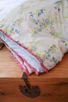 Doona cover from two sheets