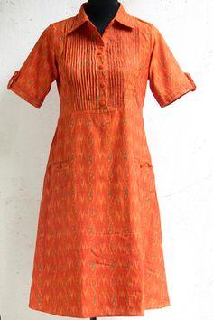 ikat dress - marigold & pleats