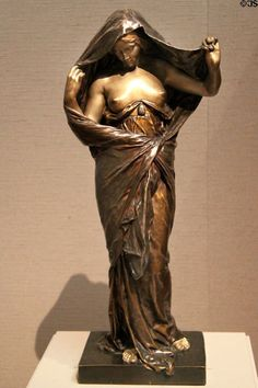 French Art Nouveau sculpture of Nature Unveiling Herself Before Science (1899) by Louis-Ernest Barrias at Museum of Fine Arts. Boston, MA.