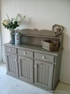 Restyled Vintage: French Linen Buffet