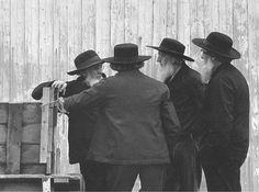 George Tice - Old Amish Men, Lancaster, Pennsylvania, 1966