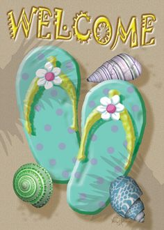 Toland Home Garden Welcome Flip Flop-Cape Cod 28 x 40 inch House Flag Flag Decor, Art Decor, Cape Cod, Flip Flop Sandals, Flip Flops, Beach Relax, House Flags, Am Meer, Flag Design