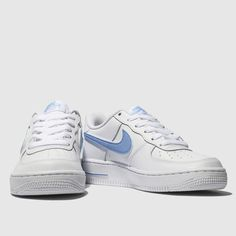 06b79c0c0975 nike white   pl blue air force 1-3 trainers youth Blue Air