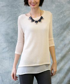 Look at this Sawyer Cove Cream Pearl Layered Tunic - Women on #zulily today!