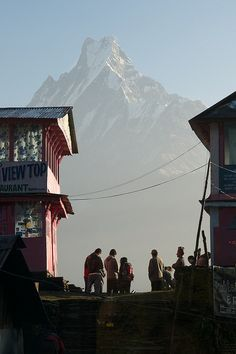 "The ""Fishtail"" Holy Mountain, Nepal"