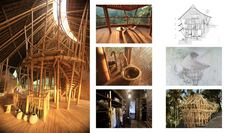 Gorgeous homes made entirely of bamboo Sunrise House Bamboo Architecture, Sustainable Architecture, Sunrise House, Bamboo Structure, Bamboo Design, House 2, Boat, Cabin, Homes