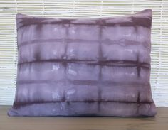 12 x 16 Shibori Dyed Pillow Cover in Amethyst by EvaHomeGoods, $15.00