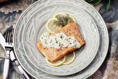 Roasted Salmon with Lemon Dill Sauce: An Elegant Dish in Under 30 Minutes
