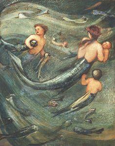 Mermaids In The Deep, by Sir Edward Burne Jones - circa 1882