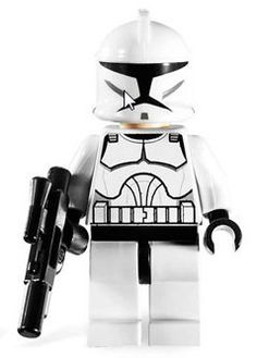 Lego Star Wars Minifigure: Clone Trooper with Blaster (Clone Wars Version) LEGO http://www.amazon.com/dp/B001IAR6P8/ref=cm_sw_r_pi_dp_3EC4tb1V7YE3X