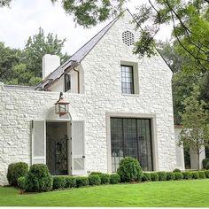 White painted stone exterior @paulbatesarchitects!