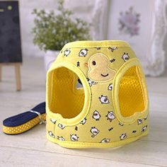 dog harness cute - Stock Show Small Pet Summer Spring Cute Cartoon Harness Vest and Matching Polka Dots Lead Leash Set Breathable Soft Mesh Padded Adjustable Chest Strap Hareness for Puppy Kitten Small Animal, Yellow. Best Cat Harness, Dog Harness, Duck Or Rabbit, Cute Strawberry, Dog Bag, Cat Collars, Diy Stuffed Animals, I Love Dogs, Cute Cartoon