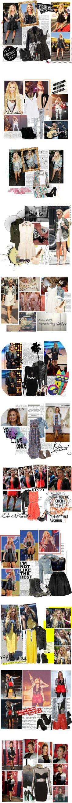 """""""Dress Like Demi Lovato ♥"""" by chhoff23 ❤ liked on Polyvore"""