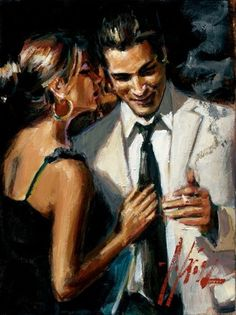 Fabian Perez Fabian Perez Limited Edition Giclee on Canvas The Proposal Second State