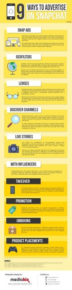 What Are 9 Ways To Advertise On #Snapchat? #infographic