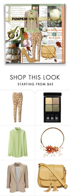 """Pumpkin Spice Style #8"" by julia-kesar ❤ liked on Polyvore featuring By Malene Birger, Givenchy, Uniqlo, NOVICA, Wallis, Arizona, WALL and pss"