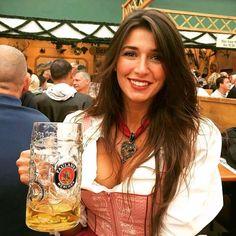Image may contain: 3 people, drink Oktoberfest Outfit, German Girls, German Women, Octoberfest Girls, Beer Girl, Lolita, Beer Festival, Munich, Beauty