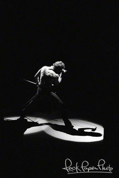Bruce Springsteen on his Born In The USA tour in 1984. Photo by Larry Busacca.