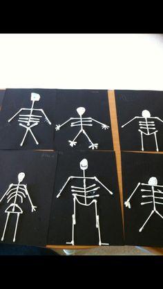 Skelett med tops