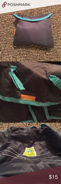 Brica Baby Seat Cover Brica gray and turquoise high chair, shopping cart seat cover. Perfect for travel. Folds up into small pouch as pictured. Fits most any shopping cart, high chair etc. Brica Other
