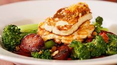 Haloumi, Chorizo & Broccolini Salad