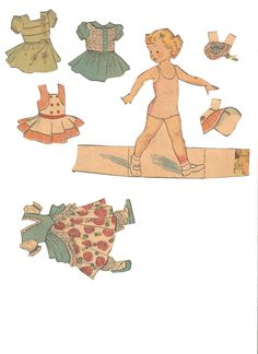 Newspaper paper doll, I think this is a Paper Playhouse. From missmissy