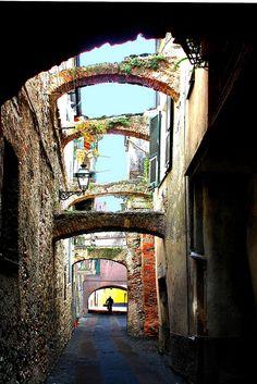 Albenga ,Liguria,Italy. Where I visited family long ago met. Beautiful city and people.